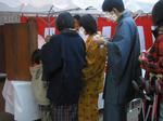 鶴見神社で着物一家