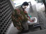 ひろみさん茶碗洗い